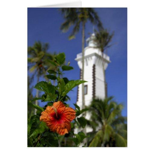 South Pacific, French Polynesia,Tahiti. Hibiscus Greeting Card
