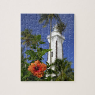 South Pacific, French Polynesia,Tahiti. Hibiscus Jigsaw Puzzle