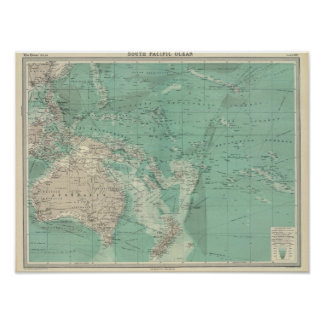 South Pacific Ocean Poster