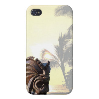 South Pacific Palm Trees Tiki iPhone 4 Case