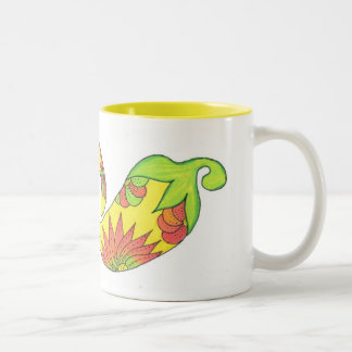 South Pacific Peppers Two-Tone Coffee Mug