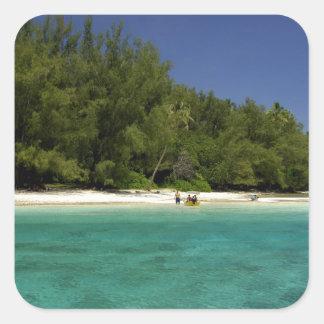 South Pacific, Polinesia francesa, Moorea Pegatinas Cuadradas Personalizadas