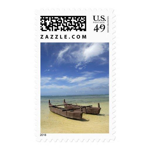 South Pacific, Polinesia francesa, Moorea. Sello Postal