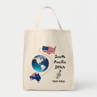 South Pacific Stitch Tote Bags