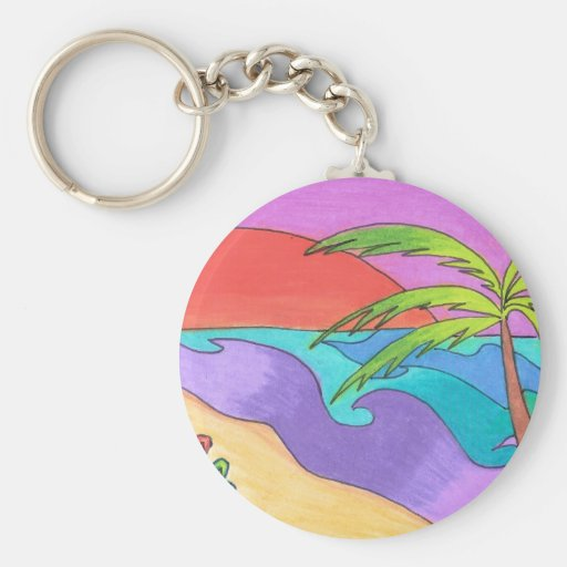 South Pacific Sunset Keychains