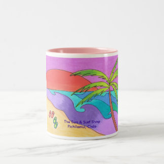 South Pacific Sunset Two-Tone Coffee Mug