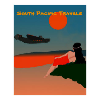 South Pacific Travel Poster