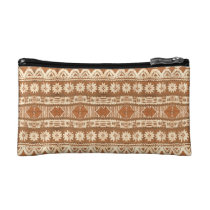 South Pacific Tribal Wood Carved Pattern Fashion Cosmetic Bag at  Zazzle