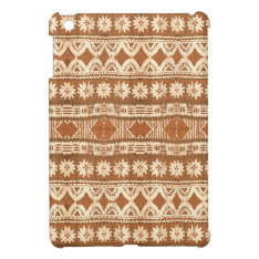 South Pacific Tribal Wood Carved Pattern Ipad Mini Case For The Ipad Mini at Zazzle