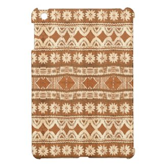 Exotic South Pacific tribal wood carving iPad Mini case for folk art fans