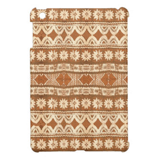 South Pacific Tribal Wood Carved Pattern iPad Mini Case For The iPad Mini