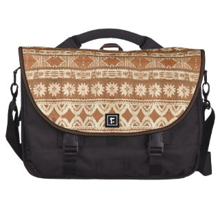 South Pacific Tribal Wood Pattern Commuter Bag