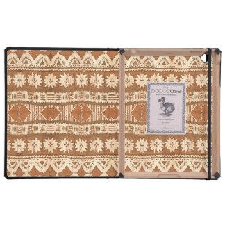 South Pacific Tribal Wood Pattern iPad Dodocase iPad Folio Case