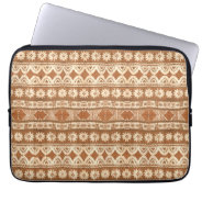 South Pacific Tribal Wood Pattern Laptop Sleeve 13 at Zazzle
