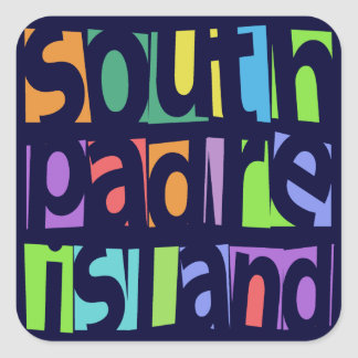 South Padre Island Square Stickers