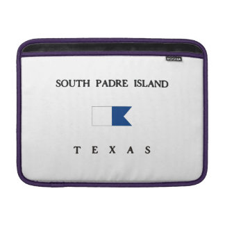 South Padre Island Texas Alpha Dive Flag MacBook Sleeve