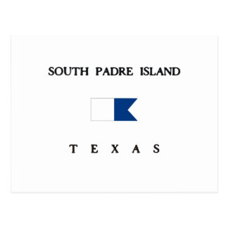 South Padre Island Texas Alpha Dive Flag Postcard