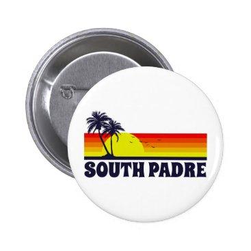 Beach Themed South Padre Island Texas Button
