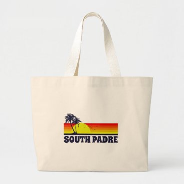 Beach Themed South Padre Island Texas Large Tote Bag