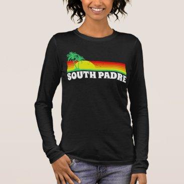 Beach Themed South Padre Island Texas Long Sleeve T-Shirt