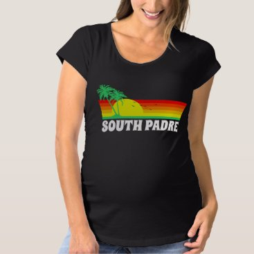 Beach Themed South Padre Island Texas Maternity T-Shirt