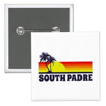 Beach Themed South Padre Island Texas Pinback Button