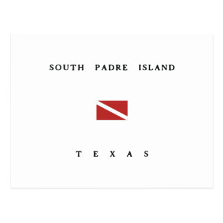 South Padre Island Texas Scuba Dive Flag Postcard