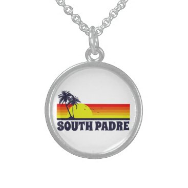 Beach Themed South Padre Island Texas Sterling Silver Necklace