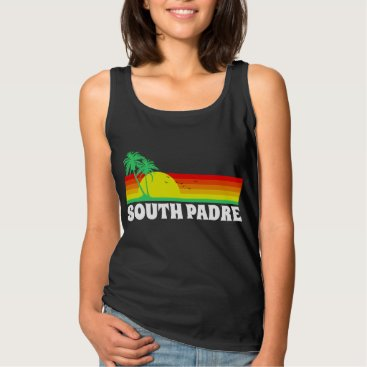 Beach Themed South Padre Island Texas Tank Top
