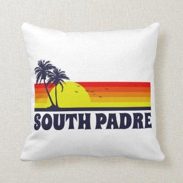 Beach Themed South Padre Island Texas Throw Pillow