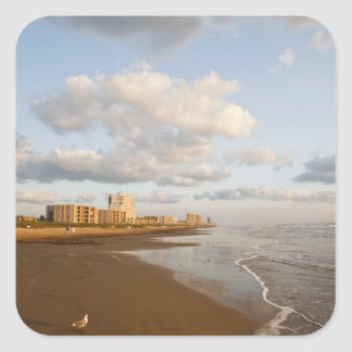South Padre Island, Texas, USA resort hotels, Square Sticker