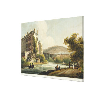 South Parade, from 'Bath Illustrated by a Series o Canvas Print