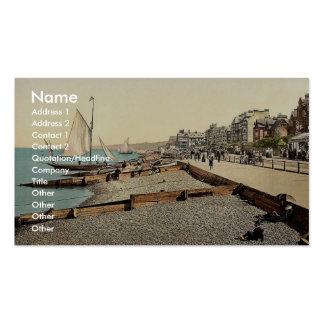 South Parade, I., Herne Bay, England rare Photochr Business Cards