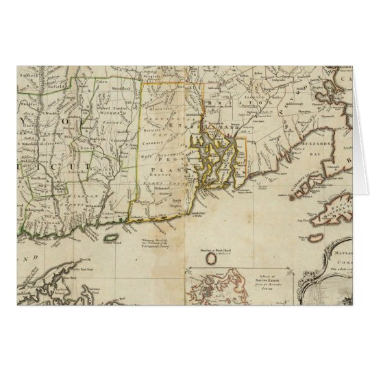 South part of The Provinces of Massachusetts Bay Card