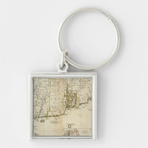 South part of The Provinces of Massachusetts Bay Keychain