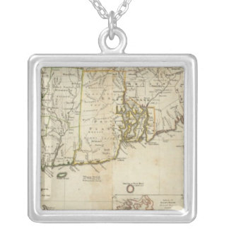 South part of The Provinces of Massachusetts Bay Square Pendant Necklace