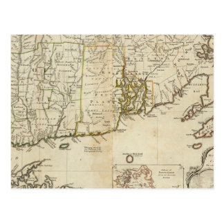 South part of The Provinces of Massachusetts Bay Postcard