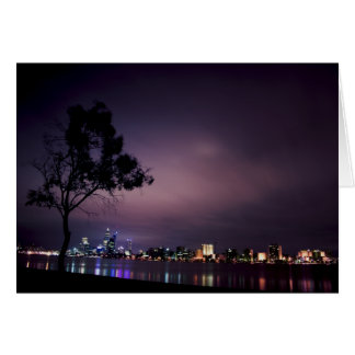 South Perth Foreshore Perth City Lights Skyline Card