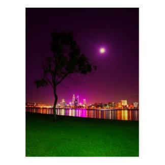 South Perth Foreshore Perth City Lights Skyline Postcard