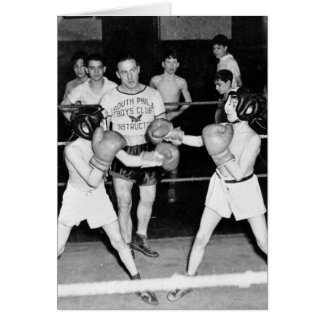 South Philly Boys Club Boxing, 1940s Card