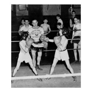 South Philly Boys Club Boxing 1940s Poster