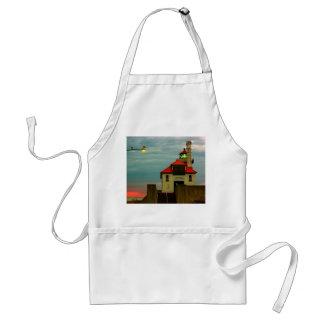 South Pier Lighthouse Adult Apron