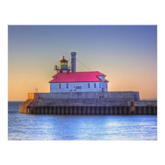 South Pier Lighthouse in Canal Park Full Color Flyer