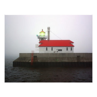 South Pier Lighthouse in the Fog Flyer Design