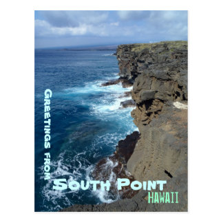 South Point Big Island Hawaii coastline postcard