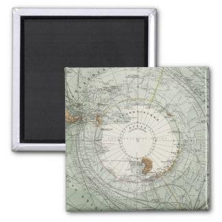 South Polar Region Map Magnet