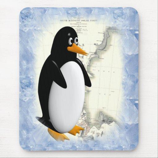 South Pole Penguin Mouse Pad