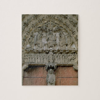 South Portal tympanum depicting Christ Enthroned w Jigsaw Puzzle