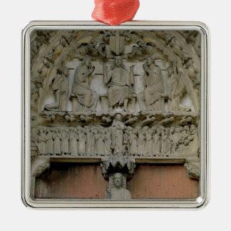 South Portal tympanum depicting Christ Enthroned w Ornament