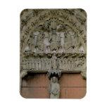 South Portal tympanum depicting Christ Enthroned w Vinyl Magnet